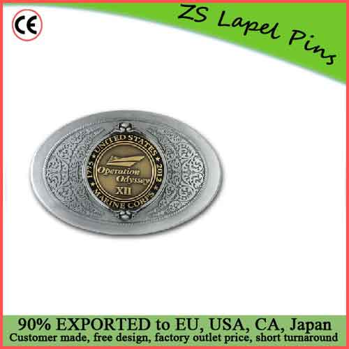 High quality zinc alloy Coin Belt Buckle Antique Nickel Belt Buckle