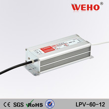 Factory outlet IP67 waterproof 60W 12v led driver LPV-60-12