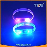 2016 fashionable sound control led bracelet flash wristband import party supply