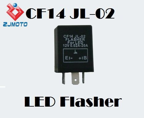 Motorcycle 3 Pin Electronic Car Flasher Relay CF14 Fix LED Hyper Flash Signal Fast Blinker