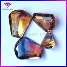 Synthetic Colorful Glass Irregular Shaped CZ Stone In South America