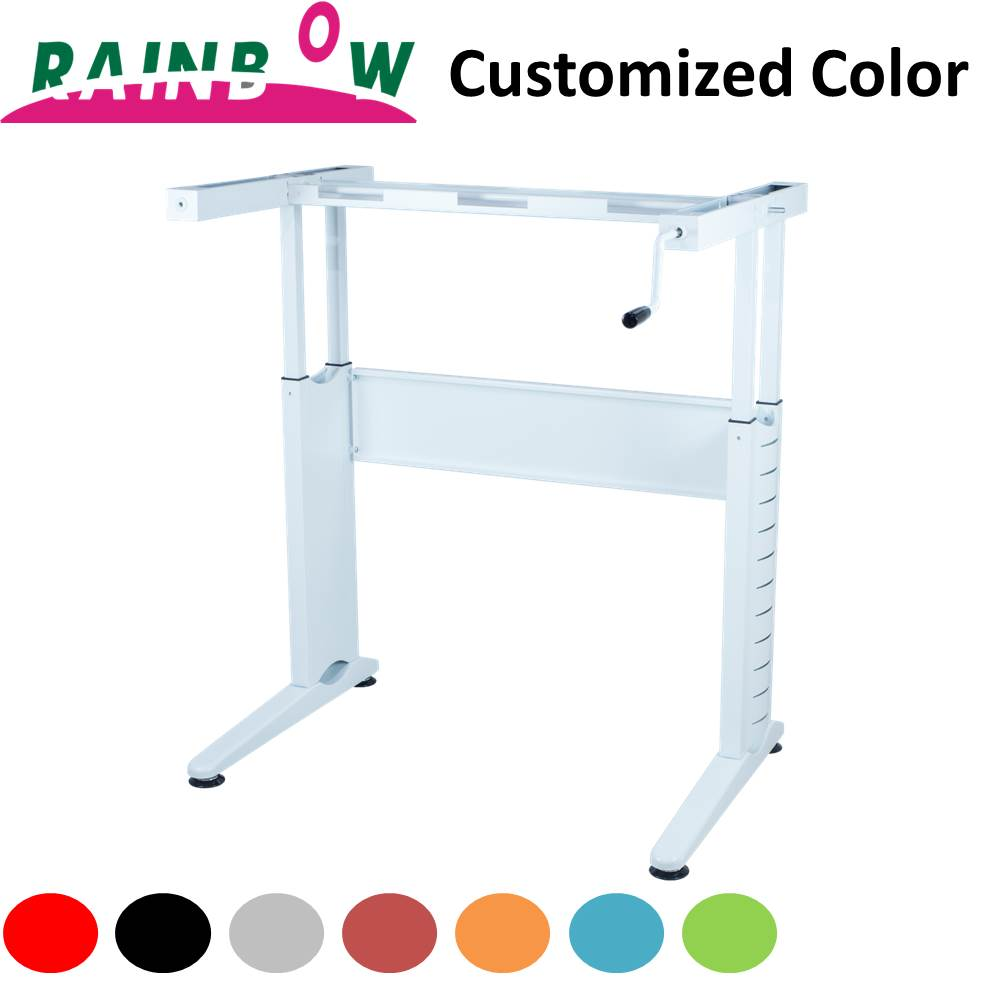 Wholesale Rainbow Office Furniture Computer Tables Stand Up Desk Height Adjustable Leg