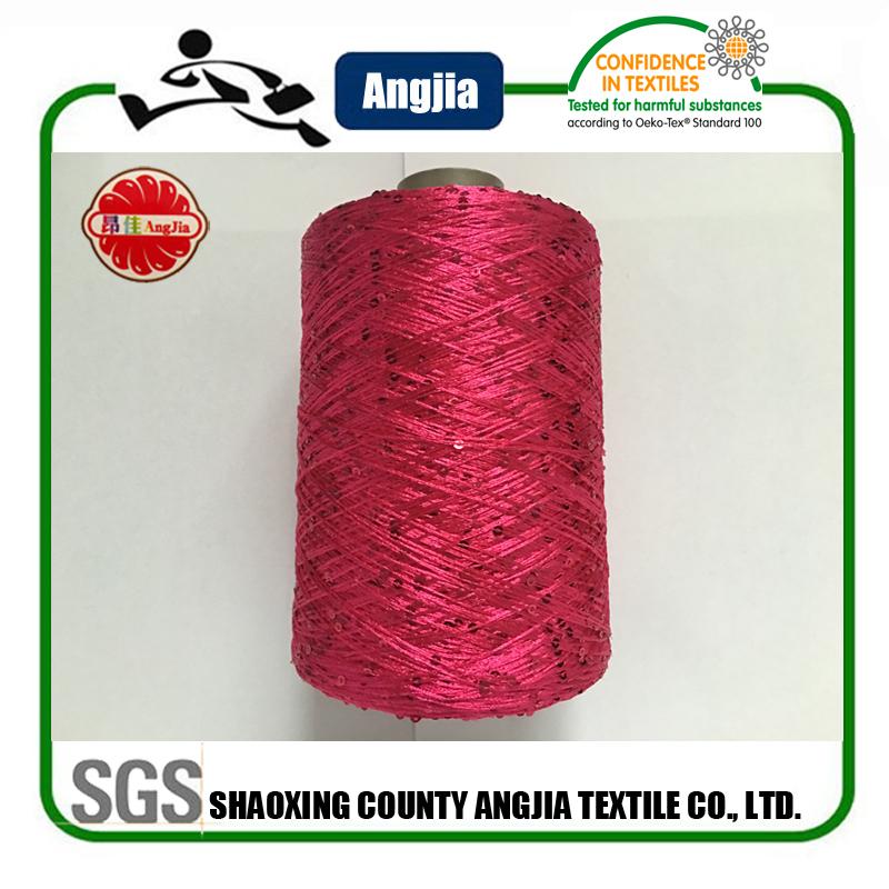 Sequin Crochet Yarn For Long Knitted Sweater Women Cardigan - Buy Sequin Croc...