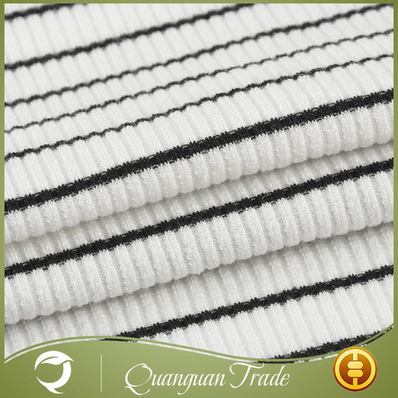 Wholesale high quality knitted garment rib cord fabric