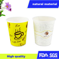 disposable coffee cups 8OZ logo printed Disposable paper hot coffee cups