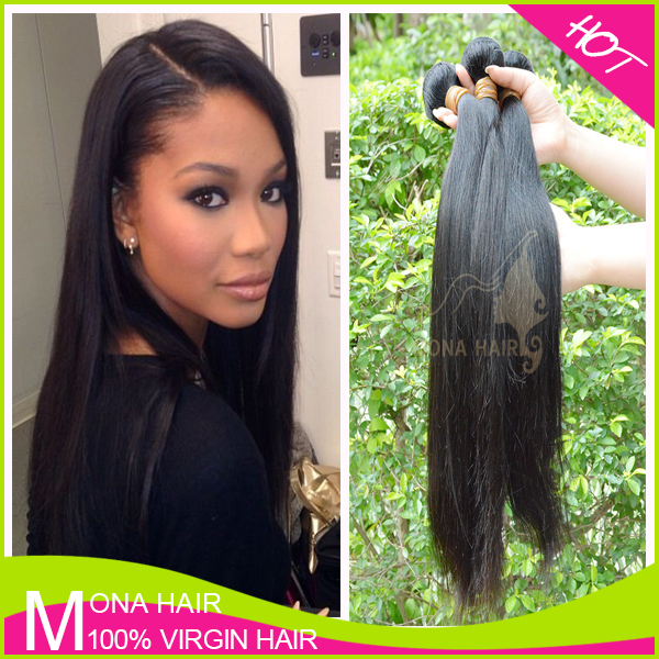 Natural looking double machine weft human hair bundles 10 to 28 inch