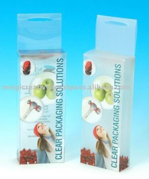 Clear Plastic Retail Hanging Box with Custom Printing