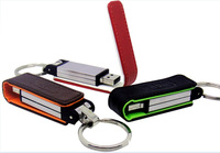 hot selling black leather usb flash drives with real capacity