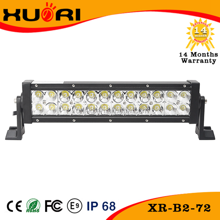 most popular product Rate For Utv Led double led light bar 72W 12V-24V Waterproof Ip68 led bar car led