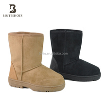 New design fashion exquisite block winter warm low price kids fur snow boots shoes for baby factory