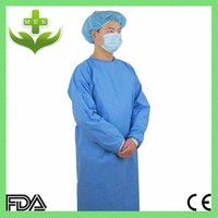 hubei mek xiantao healthcare products with CE,FDA,ISO gowns disposable non-woven surgical clothes