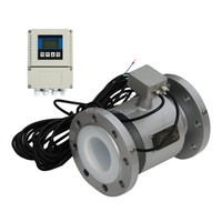 RS485 pulse output DN200 magnetic inductive flow meter CE approved low price