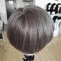 human hair mixed with synthetical mens toupees gray hair wig for men