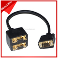 New Design VGA splitter with the gold heads male to male