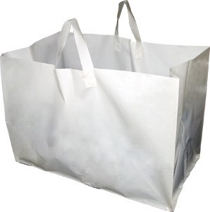 Large Heavy Duty Bag Carrying Handle Biodegradable OEM Plastic Shopping Carrier Bag