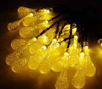 High Quality Solar Christmas Lights 30 LED Crystal Water Drop Fairy String Light