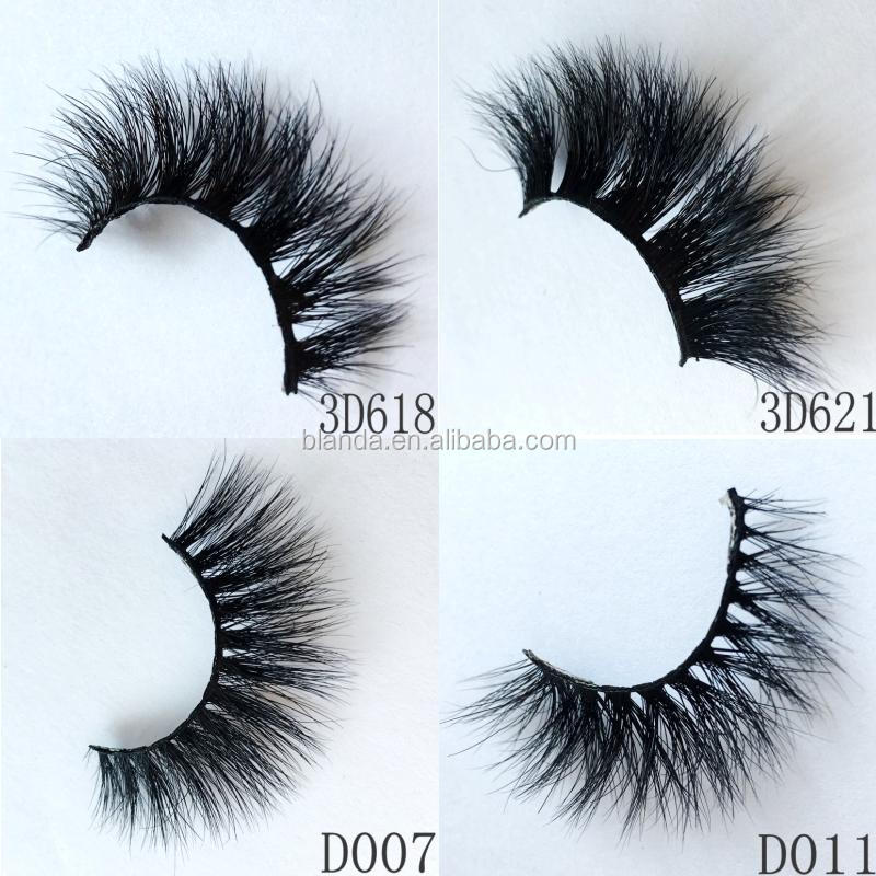 Natural Looking and comfortable weightless lash lashes 3D Mink Eyelashes False Eyelashes Super Thick Long and Criss-crossed