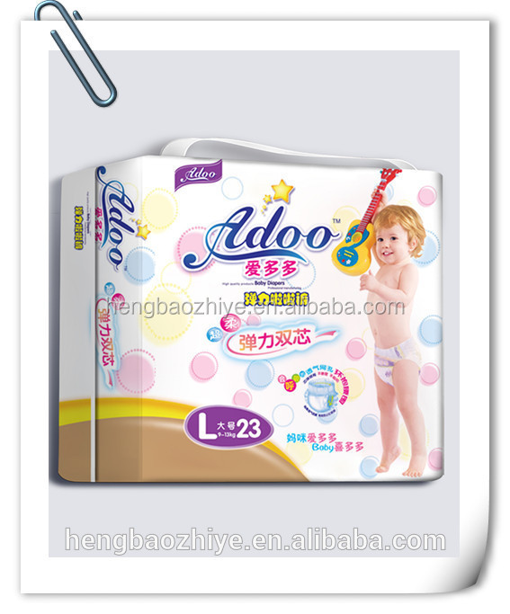 High Absorption Soft Breathable Disposable Comfortable Baby Diapersbaby diaper manufacturers in China Export to turkey