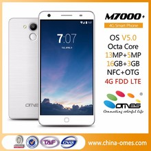 "New Model 2015 M7000+ 5.5"" FHD IPS Octa core 13MP camera 4G FDD LTE mobile phone otg mobile phone"