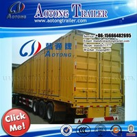 2 axles Enclosed Van/Cargo semi trailer