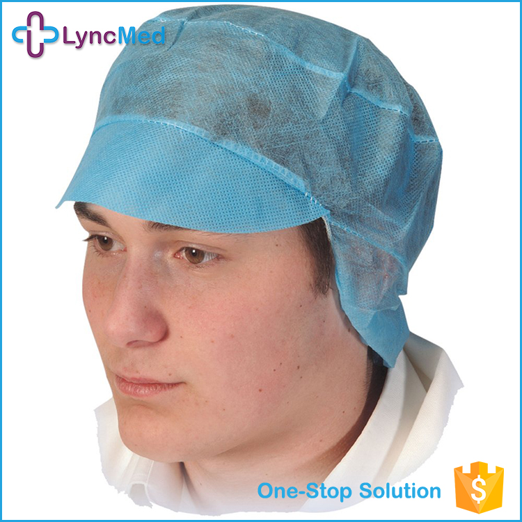 SMS Nylon disposable bouffant cap nonwoven cap nurse cap