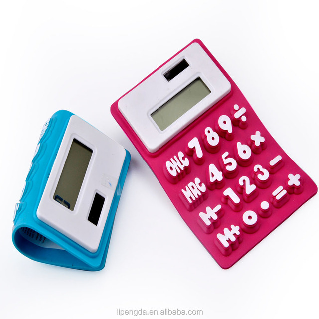 Calculator Silicone Rubber Keypad With Carbon Conductive Button Keypress