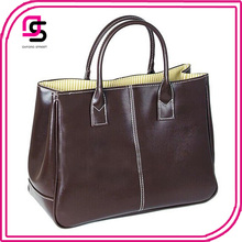 2016 newest fashion woman ladies pu leather briefcase tote handbags