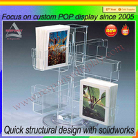 High Transparency Plastic Magazine Holder/Brochure Stand/ Brochure Display Stand For A4, A5, A6 Paper