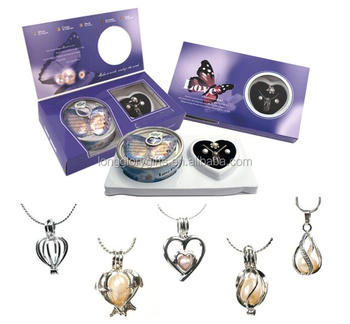 Classic original Genuine love wish pearl earrings+ring gift set