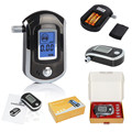 Manufacture directly supply !! Accurate] digital LCD blue display breathalyzer alcohol tester AT-6000 with 5 mouthpieces