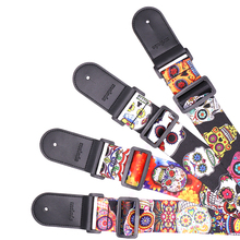 새 (High) 저 (Quality Custom Printed Personalized Polyester Guitar Bass Strap 와 PU Leather 끝