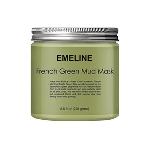OEM Organic Green Clay Body and Face Mask Fighting Acne and Toning Skin