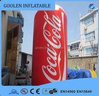 Customized inflatable drink bottle, giant inflatable model for advertising