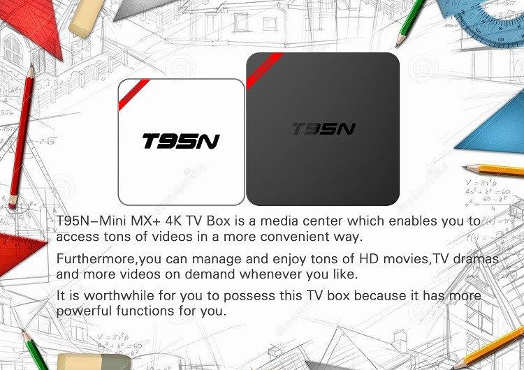 Lollipop OS Amlogic S905 Quad Core TV Box Mini MX 1GB 8GB kodi 16.0 android 5.1 T95N MINI MX+ android tv box