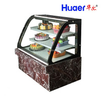 bakary refrigerated marble Curved Glass cake showcase cooler refrigerator Display Case chiller forstarbucks