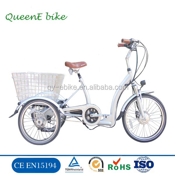 36V250W front motor electric tricycle with speed reducer differential electric trike