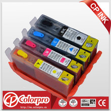 Hot selling refil ink cartridge for HP 3525/4615/4625/5525/6520/6525 printer,refillable ink cartridge with ARC chip for HP655xl