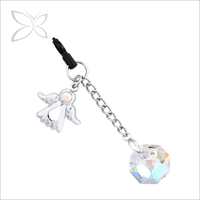 Deluxe Sweetness Chrome Plated Crystals Phone Dust Plug