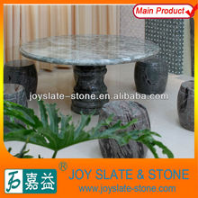 Outdoor Natural Round Green Marble Table