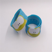 Customized OEM silicone ruler slap bracelet wristband with full color printed