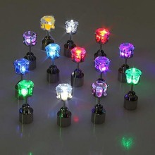 Party Favor Colorful Flashing Light Earring Christmas LED Earrings
