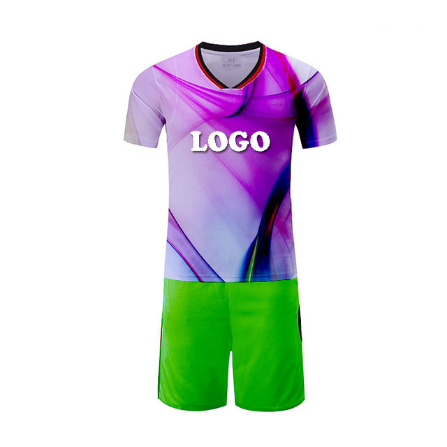 Buy soccer shirts online balls in bulk blue team jersey football clothing