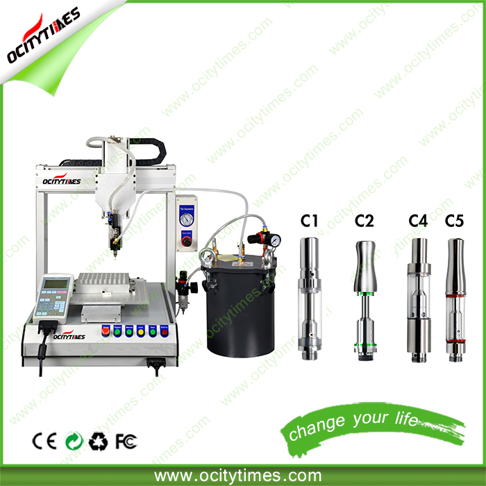 Ocitytimes original automated vape pen fillers/ high quality hemp oil filling machine robot