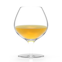 ALiiSAR handmade wine glass brandy glass clear short stem wine glass