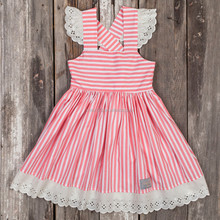 Fashion Design Small Girls Dress Popular Baby Girl stripes Print Pinafore Dress For Girls Ethnic