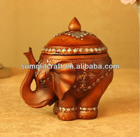 Polyresin elephant tea coffee sugar containers