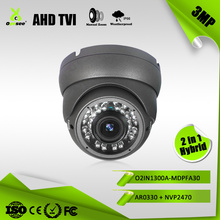 3MP 1536P 30M IR Range AHD TVI Hybrid 2 in 1 factory names OYESEE of security cameras with metal housing