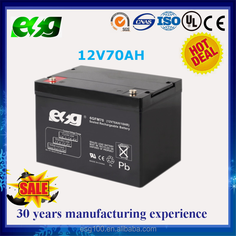 Deep Cycle agm battery 12V 70Ah Lead acid battery