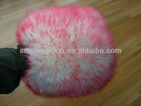 Long Hair Sheepskin Car Wash Mitt Pink Color