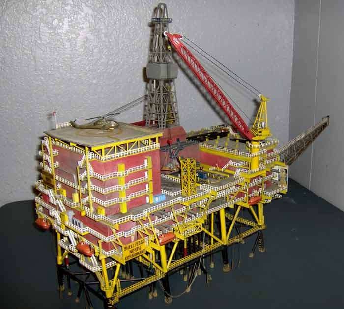 Resin plastic metal OEM oil rig model oil rig scale model for visiting study